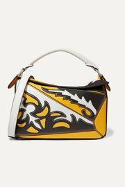 Loewe Puzzle small paneled leather shoulder bag