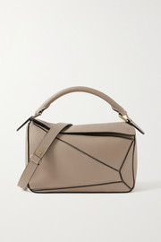 Puzzle small textured-leather shoulder bag