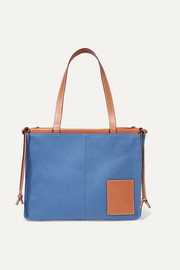 Loewe Cushion large leather-trimmed canvas tote