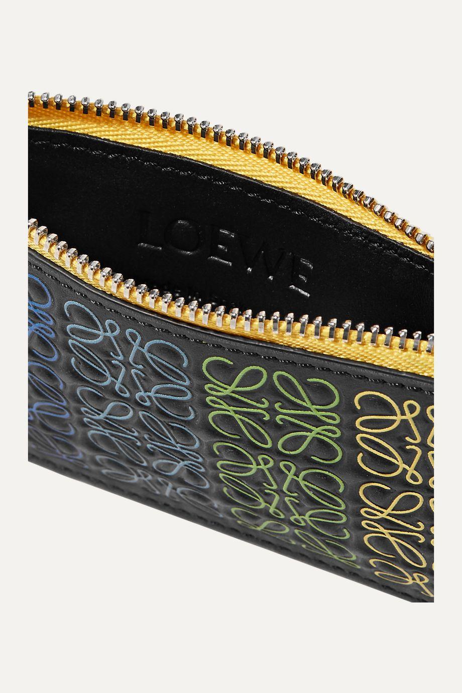 Loewe Printed color-block leather cardholder