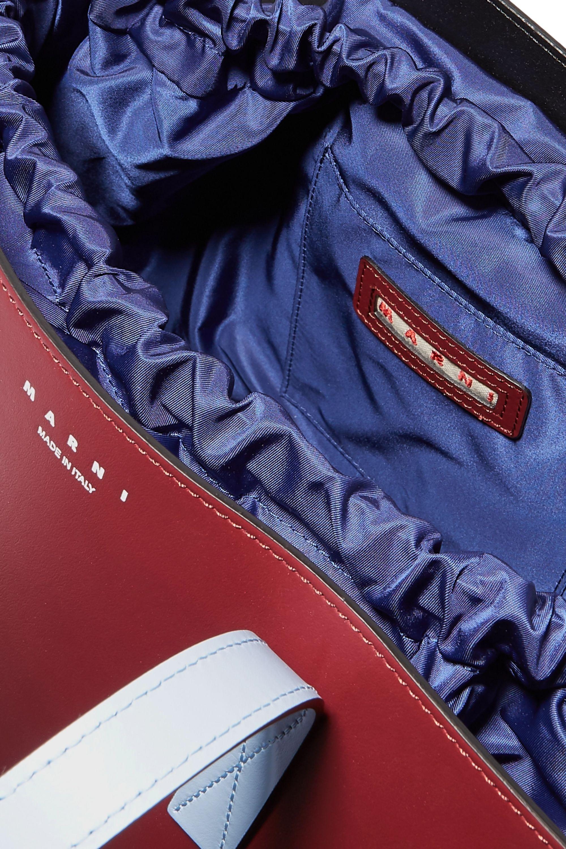 Marni Sac porté épaule en cuir et en tissu technique