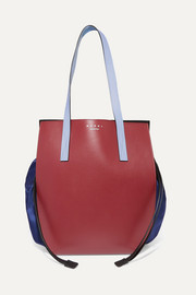 Marni Color-block leather and shell shoulder bag