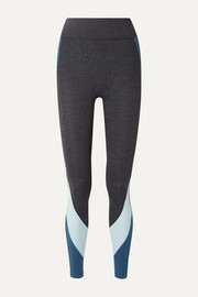 Warrior color-block stretch-jersey leggings