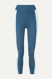 The Center cropped striped stretch-jersey leggings