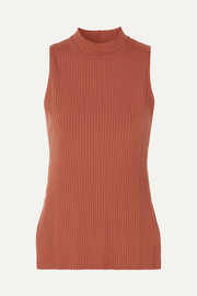 Chloe ribbed stretch-jersey top