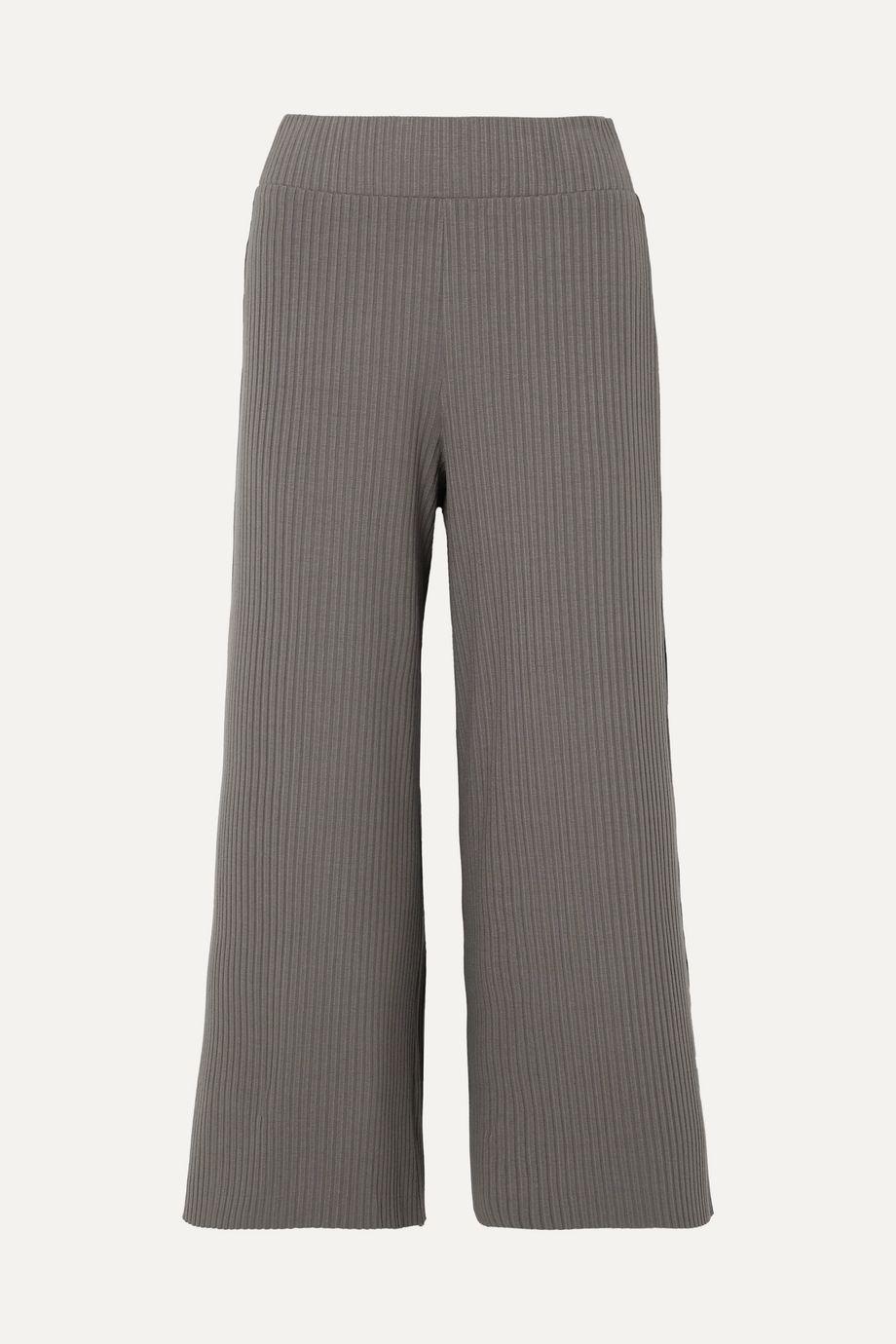 calé Gigi ribbed stretch-knit culottes