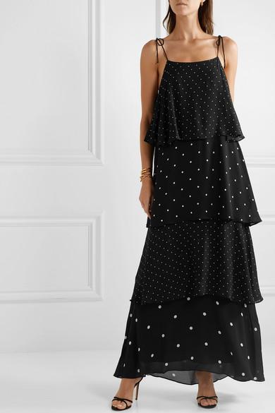16e38ad63213f Anine Bing   Daisy tiered polka-dot chiffon maxi dress   NET-A ...