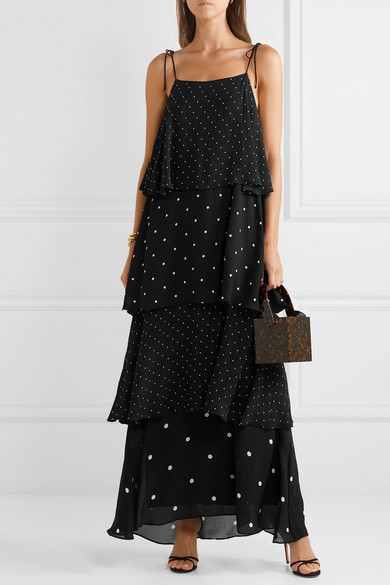 Tiered Polka Dot Maxi