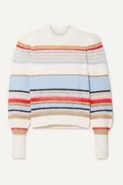 Veronica Beard Meredith striped knitted sweater