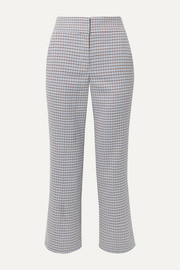Cormac cropped houndstooth woven flared pants