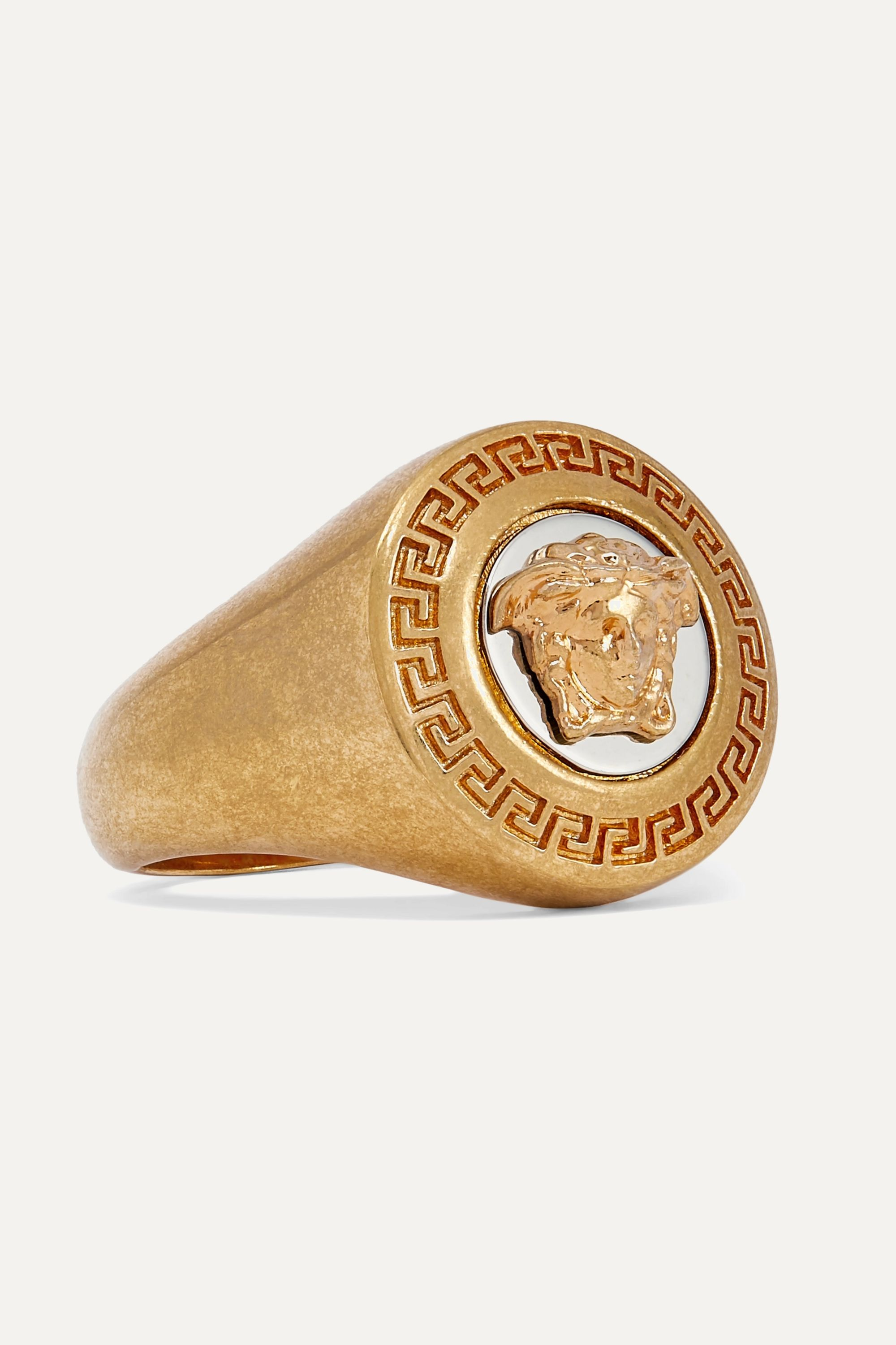 Versace Gold and silver-tone ring