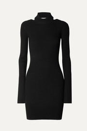 Helmut Lang Minikleid aus Stretch-Strick mit Cut-out