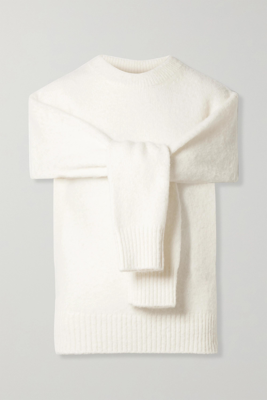 Helmut Lang Pull en laine mélangée à découpes