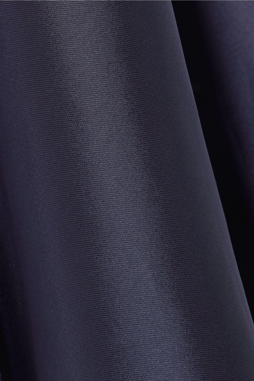 Helmut Lang Tulle-trimmed satin camisole
