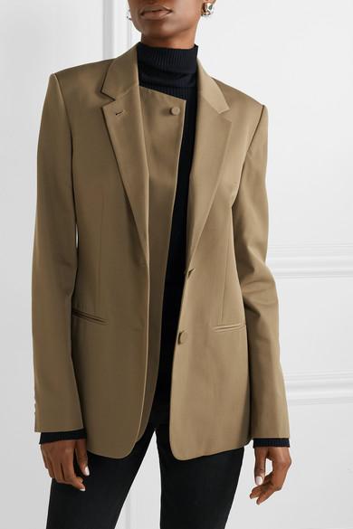 Helmut Lang Blazers Layered wool-twill blazer