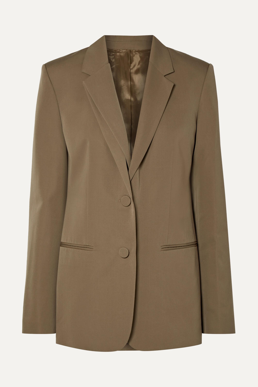 Helmut Lang Layered wool-twill blazer