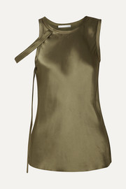 Helmut Lang Draped satin tank