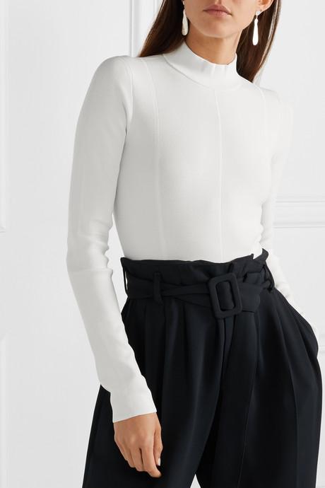 Cutout stretch-jersey bodysuit
