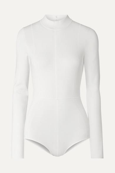 Helmut Lang Suits Cutout stretch-jersey bodysuit