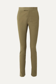 Stretch-cotton twill skinny pants