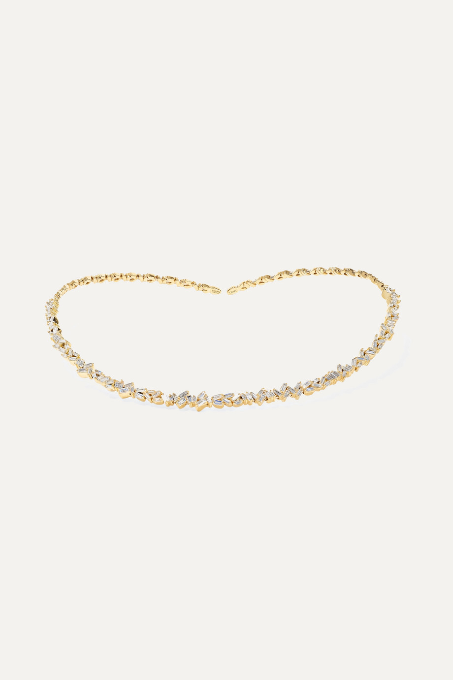 Suzanne Kalan 18-karat gold diamond collar