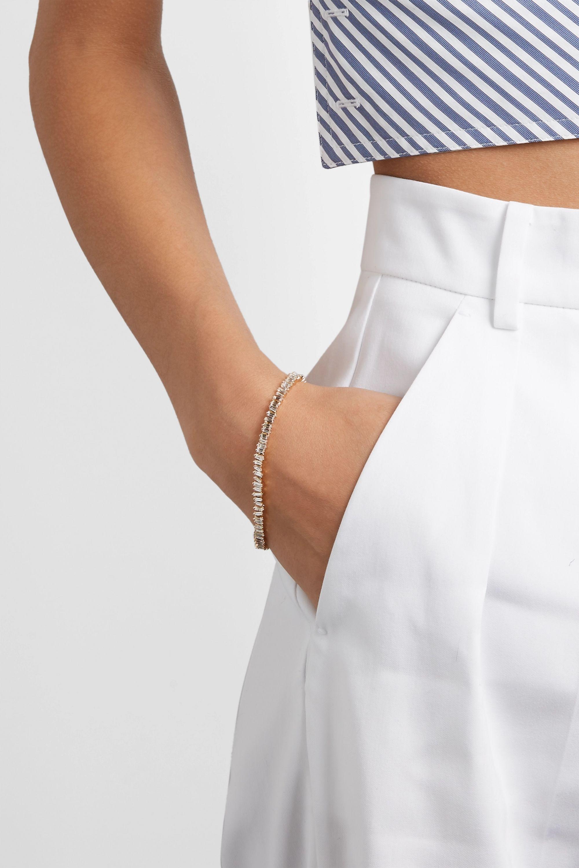 Suzanne Kalan 18-karat gold diamond bracelet