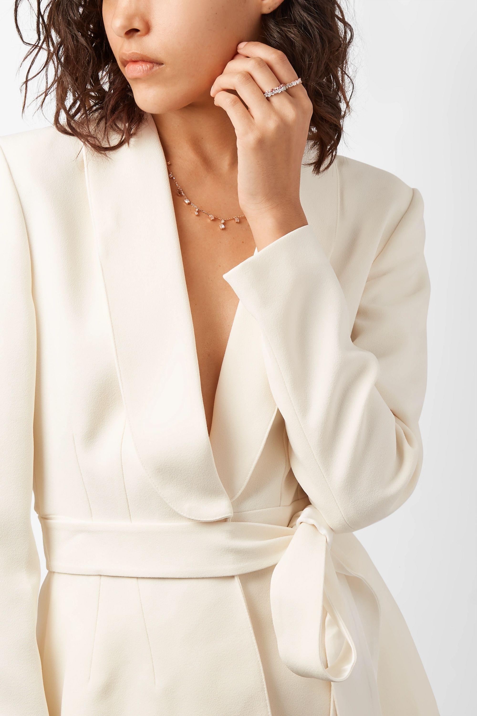 Suzanne Kalan Bague en or rose 18 carats, diamants et saphirs