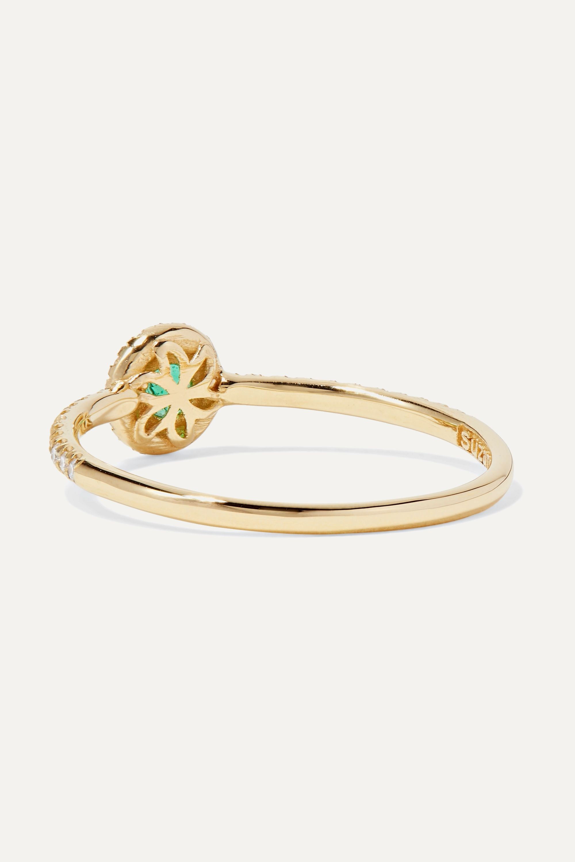 Suzanne Kalan Ring aus 18 Karat Gold mit Smaragd und Diamanten