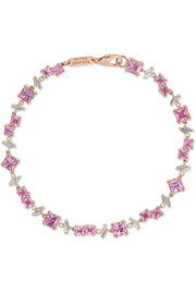 Bracelet en or rose 18 carats, saphirs et diamants
