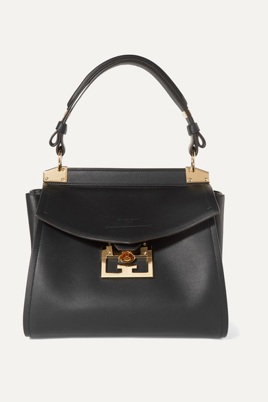 GIVENCHY | Givenchy - Mystic Small Leather Tote - Black | Goxip