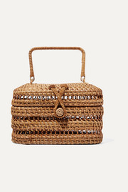 Cult Gaia Max rattan and bamboo tote