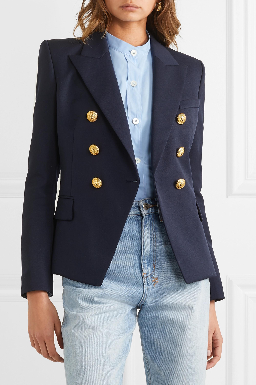 Balmain Double-breasted wool-twill blazer