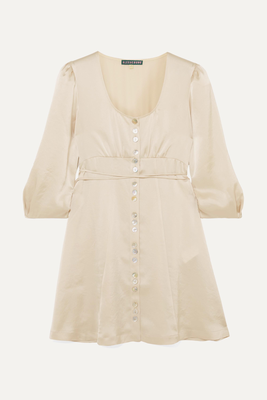 ALEXACHUNG Satin mini dress