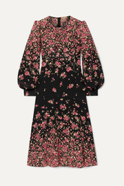Michael Kors Collection Floral-print silk crepe de chine dress