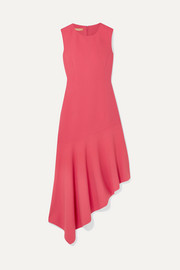 Michael Kors Collection Asymmetric wool-blend midi dress