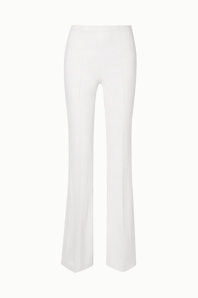 MICHAEL KORS | Michael Kors Collection - Crepe Flared Pants - White | Goxip