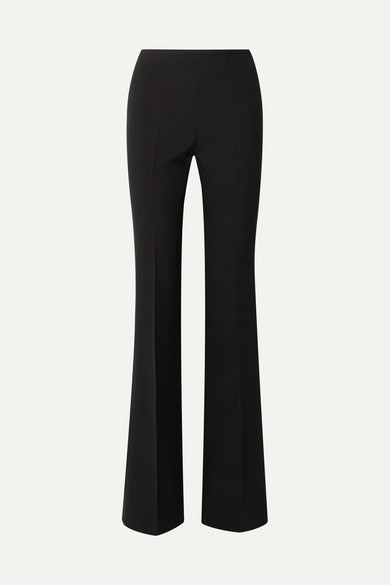 MICHAEL KORS | Michael Kors Collection - Crepe Flared Pants - Black | Goxip