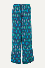 Figue Saanchi printed crepe de chine wide-leg pants