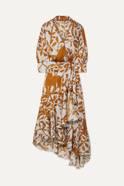 Johanna Ortiz The Journal of the Traveler printed asymmetric crepon wrap dress