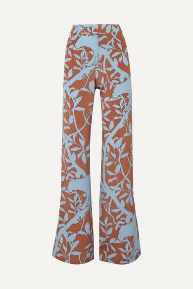 f61b9ddd1796 Johanna Ortiz | Dominant Paradigm printed silk crepe de chine straight-leg  pants | NET-A-PORTER.COM