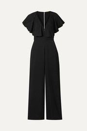Johanna Ortiz Poetry in Motion ruffled satin-jacquard jumpsuit