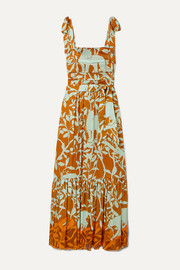 Johanna Ortiz My Kind Of Rainforest embellished printed crepon maxi dress