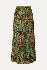 Johanna Ortiz The Act of Nature pleated printed crepon midi skirt