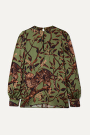 Johanna Ortiz Gifts of Nature printed crepon blouse