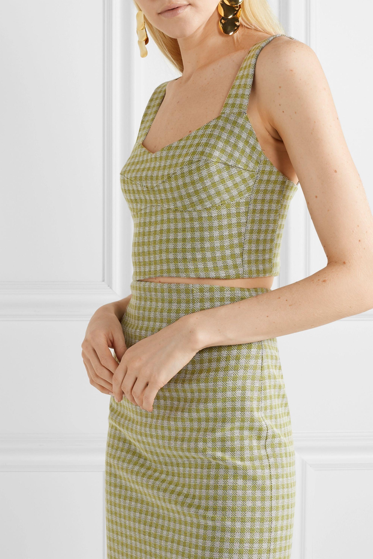 Silvia Tcherassi Agnello cropped gingham woven top