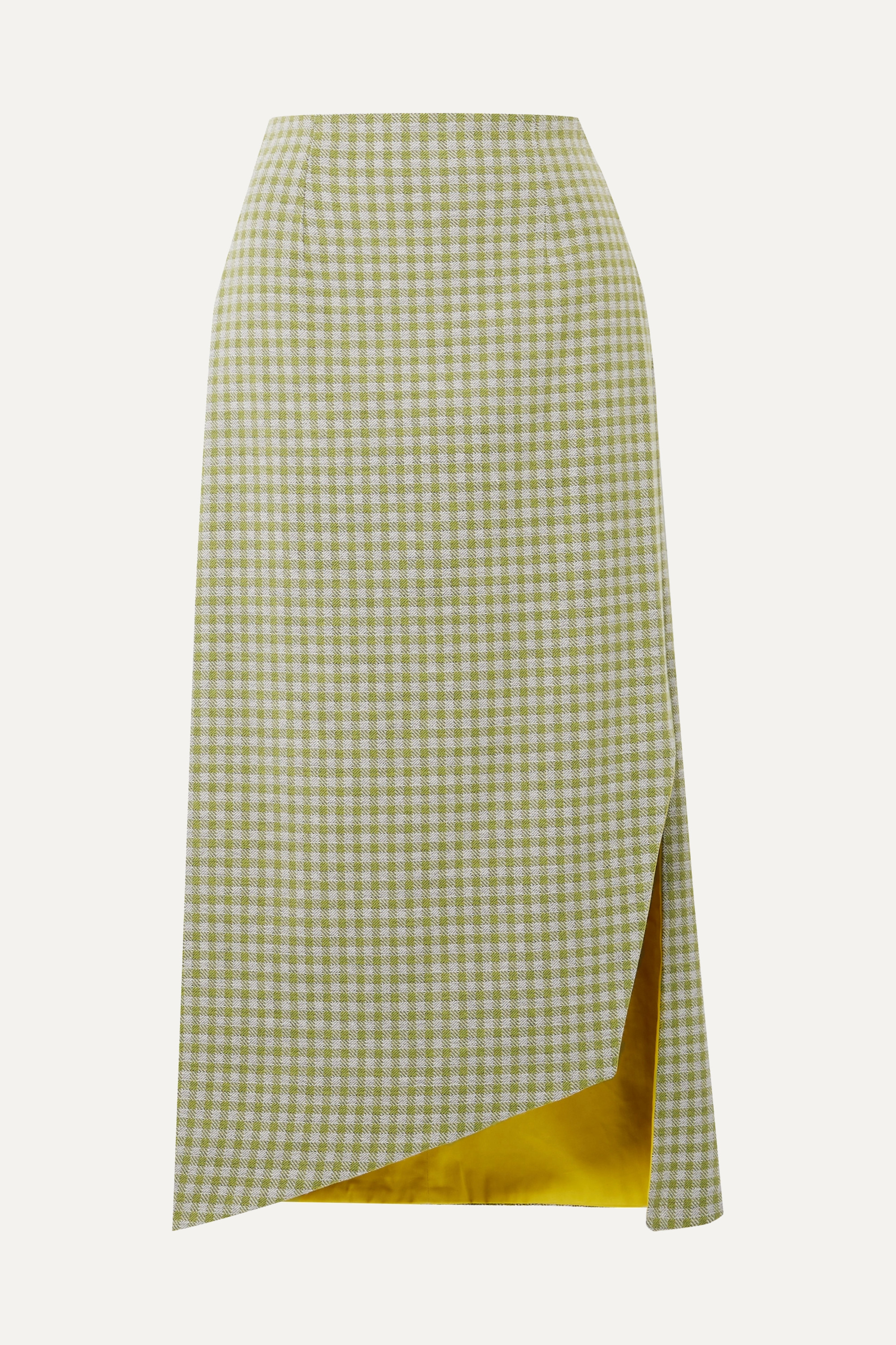 Bea gingham woven midi skirt by SILVIA TCHERASSI, available on net-a-porter.com for $288 Amal Clooney Skirt Exact Product