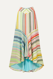 Silvia Tcherassi Beverly striped crepe de chine maxi skirt