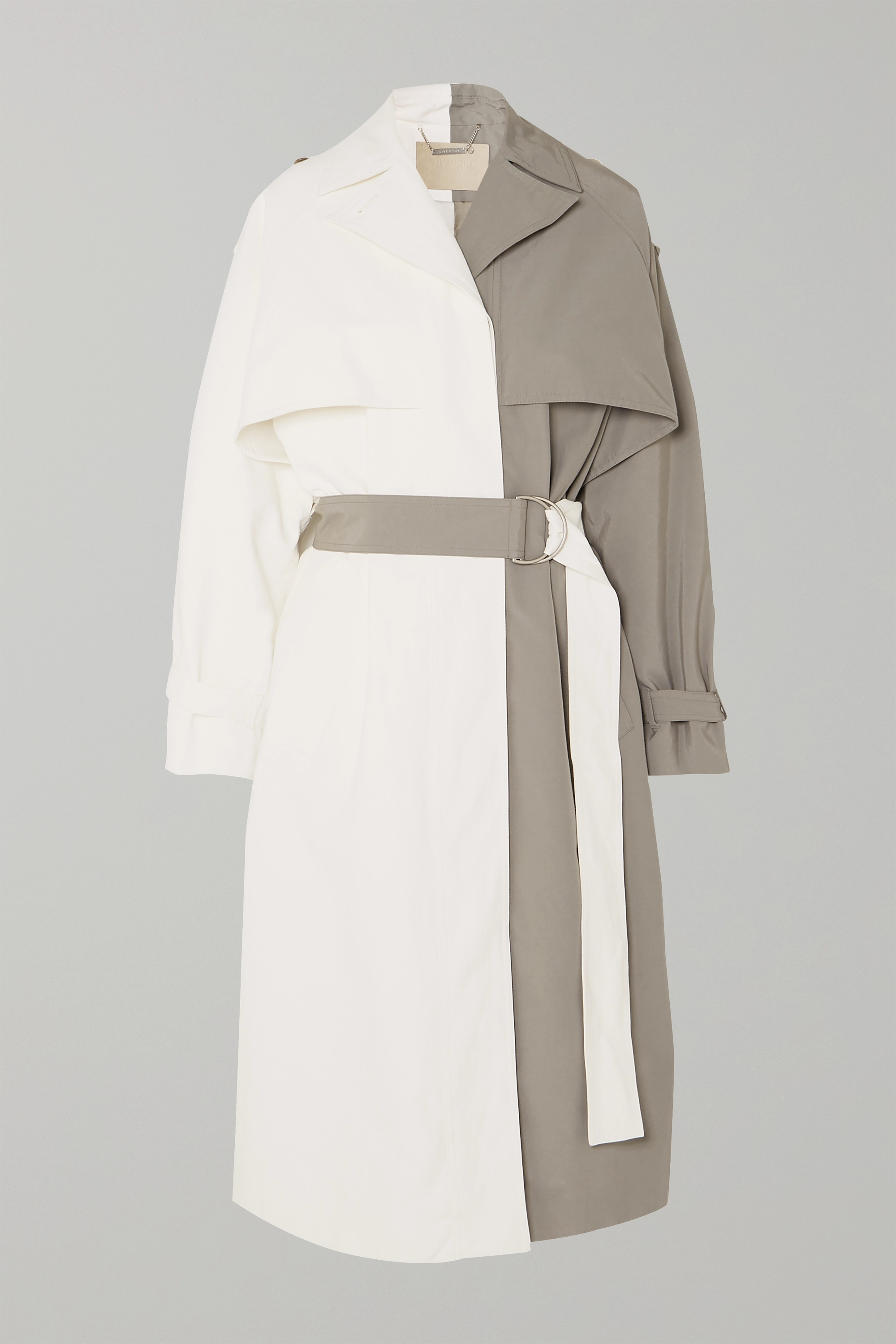 Givenchy Two-tone linen and cotton-blend trench coat