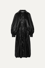 Givenchy Hooded glossed-shell coat