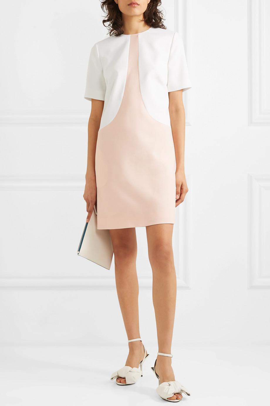 Givenchy Two-tone wool-crepe mini dress